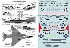 SUPERSCALE DECALS 1/72 F-4J/S Phantom VF-121 Pacemakers VX-30 Blood Hounds (USN)