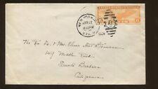 1935 New York City to Santa Barbara California Air Mail Postal Cover C19