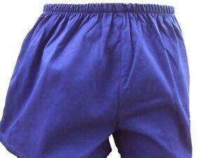 Herren Turnhosen Retro blau weinrot grün Sporthosen Größe 6