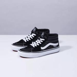 Vans Skate  Grosso Mid  Black//White/Emo/Leather