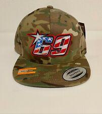 Limited Edition Nicky Hayden 69 Memorial Snapback Hat- Sand/Green Camo