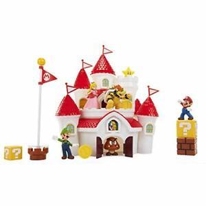"""Nintendo Super Mario Deluxe Mushroom Kingdom Castle Playset with 5 2.5"""" Articula"""