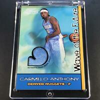 CARMELO ANTHONY 2003 FLAIR WAVE OF THE FUTURE ROOKIE JERSEY #'D /250 NBA