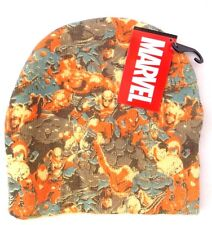 Marvel Super Heroes Avengers Boys Youth Character Yellow Beanie Hat NWT ONE SIZE