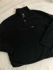 Vintage 90s Ralph Lauren Polo Sport Black Fleece Sweatshirt Jacket Mens XL