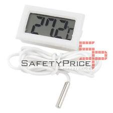 Termometro digitale sonda 1m esterna temperatura lcd acquario congelatore Bianco