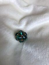 SALE Large Green & Gold Rhinestone Bead for Jewelry Making, FREE U.S. Shipping