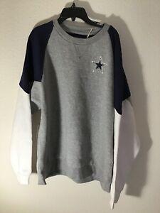 Mitchell & Ness Men's Dallas Cowboys Crew Fleece Sweatshirt 4XL $80