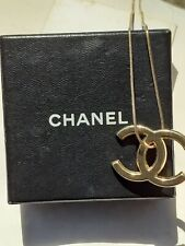 Chanel gold plated CC logo charm vintage necklace