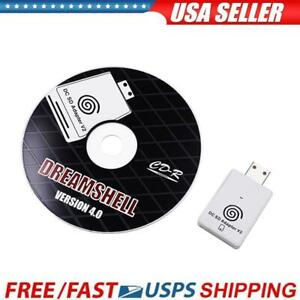 For Sega Dreamcast SD Card Reader TF Card Adapter+CD with DreamShell Boot Loader