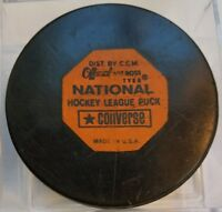 Vintage Art Ross Converse Montreal Canadiens Puck 1969-1977 Rubber Crest Game US
