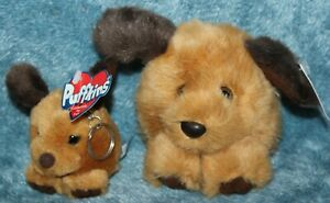 Puffkins Dog Fetch #6606 w/tag 1994 & Mini Keychain #6606-K