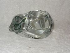 Indiana Glass Clear Kitty Cat Votive Candle Holder- Made in USA