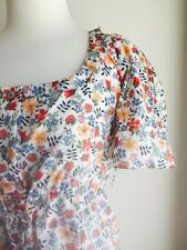 Sweet Cotton Wayne Cooper Cotton Blouse/Top Size 1. Vintage Inspired Fabric.