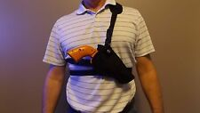 """Right Hand Draw Bandoleer / Shoulder CHEST Holster RUGER LCR x w/ 3"""" barrel USA"""