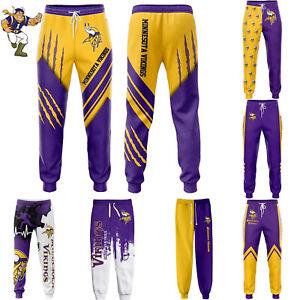 Minnesota Vikings Men Sweatpants Casual Trousers Jogging Training Pants All Size