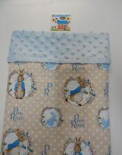 Peter Rabbit Blue Blanket - Bassinet Pram Capsule Moses Basket Minkee Dot Back