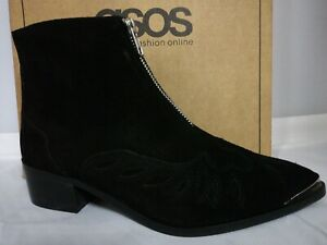 LADIES REAL SUEDE LEATHER WOMENS ANKLE CHELSEA ASOS ZIP CASUAL SHOES BOOTS