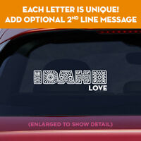 IDAHO state unique lettering vinyl decal sticker add message on 2nd line!