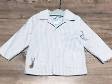 Laura Ashley Boys Sky Blue Stripes Blazer Jacket Age 24 Months VGC A0017