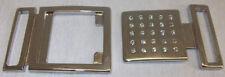 Hakenverschluss Schließe Gürtelschnalle 3,9cm silber mit 25 Kristallen ! NEU !