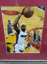 LeBron James Signed 11x15 NBA Miami Heat Framed *Free Shipping!* OBO