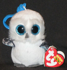 TY BEANIE BOOS - SPELLS the SNOW OWL  KEY CLIP - MINT with MINT TAGS