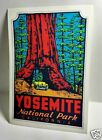 Yosemite National Park Vintage Style Travel Decal / Vinyl Sticker, Luggage Label
