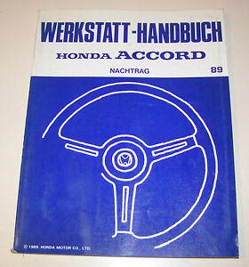 Manual de Taller Honda Accord - Stand 1989