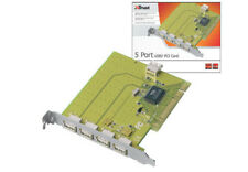 NEW TRUST 5 PORT USB 2.0 PCI CARD FOR PC COMPUTER/ MAC