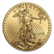 2016 1/2 oz Gold American Eagle BU - SKU #93744