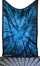 Twin Forest Tree Tapestry Psychedelic Wall Hanging Bohemian Hippie Throw Decor