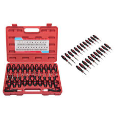 Auto Wire Terminal Release Tool Kit Electrical Connector Removal Set +Carry Case