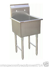New 18x18 Sink 1 Compartment Mop Stainless Steel Nsf #7002 Commercial Restaurant