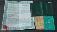 VINTAGE CHRONOMETRE ROLEX OYSTER PERPETUAL DATE 15000 WARRANTY 1986 & HOLDER