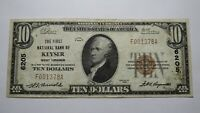 $10 1929 Keyser West Virginia WV National Currency Bank Note Bill Ch. #6205 VF!