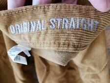 American Eagle Mens Original Straight Corduroy Pants Khaki Caramel Color 31x32