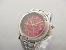 Auth REVUE THOMMEN Landmark 2825003 Red Silver Women's Wrist Watch