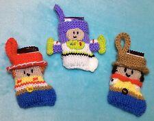 Knitting Pattern-Toy Story Woody, Jessie, Buzz Noël Stocking Décoration