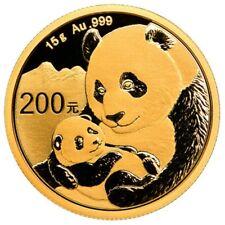 200 yuans china 2019 - 15 g de oro panda 2019 soldada