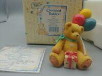 Mint Cherished Teddies NINA Beary Happy Wishes Retired  Event Figurine W/COA/Box