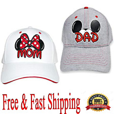 Disney Mom and Dad Hat Mickey & Minnie Fan Baseball Cap 1 pair(Mom+Dad) Original