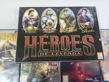 HEROES DE LEYENDA ALEJANDRO MAGNO SHERLOCK HOLMES 4X JUEGO PC 4 X DVD-ROM NUEVO