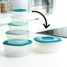 Lunch box empilables bleu (5 Pièces) - Boite de conservation aliments ou repas