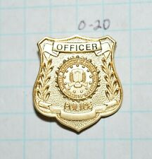 "FBI DEPT OF JUSTICE FEDERAL BUREAU POLICE OFFICER MINI BADGE 7/8"" LAPEL PIN"