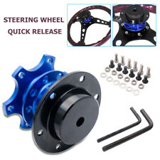 Universal Racing Car Steering Wheel Quick Release Hub Adapter Snap Off Kit Blue