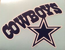 "Dallas Cowboy Decal Blue & White 5.25""x7"" Vinyl **FREE SHIPPING**"