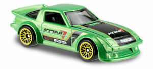 167 - 2019 Hot Wheels - 1979 Mazda RX-7 Widebody IMSA GTU Die-Cast Car Green