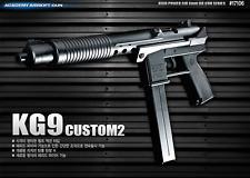 [ACADEMY] KG9 CUSTOM2 Airsoft Pistol BB Shot Gun 6mm Hand Grips Toy Kids Hobby