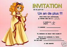5 - 12 oder 14 karten einladung geburtstag candy REF 357